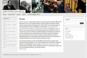 Image of Oral History Website on James Farmer at UMW
