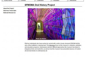 Image of SFMOMA Oral History Project