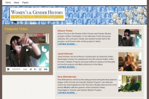 Image of Women's and Gender Studies Oral History website at UMW